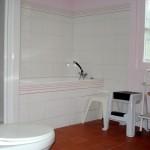 Salle de bain du gîte la Leurande