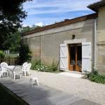 Terrasse du gîte près de Bar-le-Duc